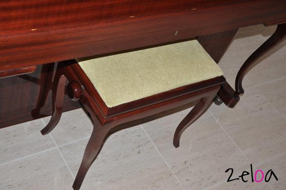 Retapizar banqueta de piano - www.2eloa.com