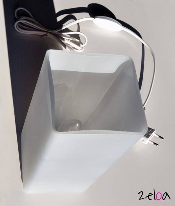 Ikea hack tapa de pl stico para mis l mparas gr n - Lampara noche ikea ...