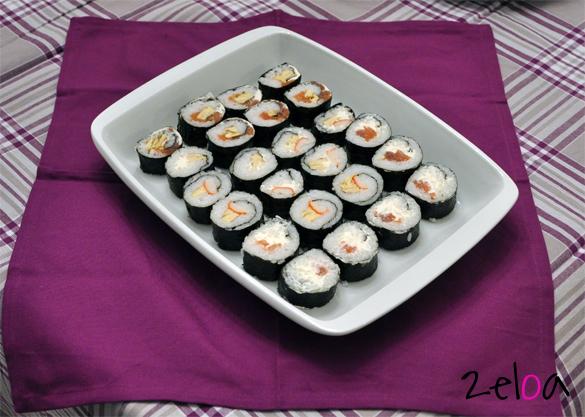 Sushi casero hecho por Usokeido - www.2eloa.com