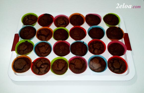Muffins de chocolate con Thermomix - www.2eloa.com