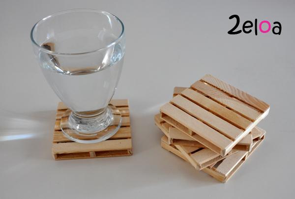 Pal s posavasos hechos con maderas recicladas 2eloa - Reciclaje de pales ...