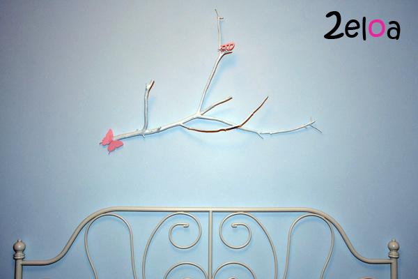 Cabecero con rama seca - www.2eloa.com