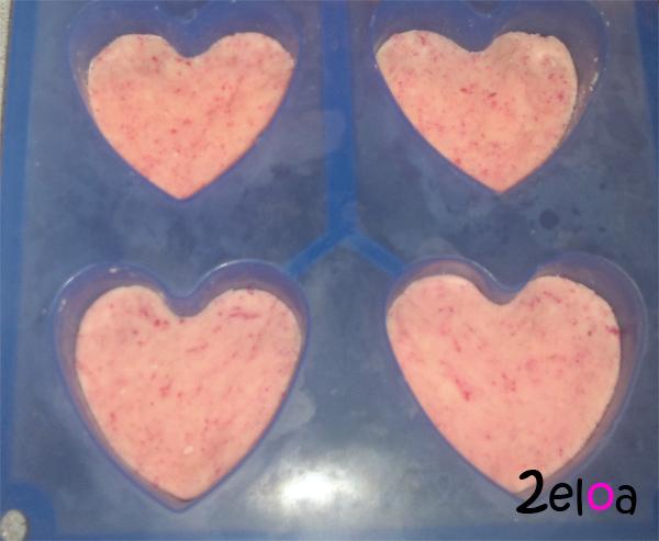 Corazones chocolate blanco y leche condensada - www.2eloa.com