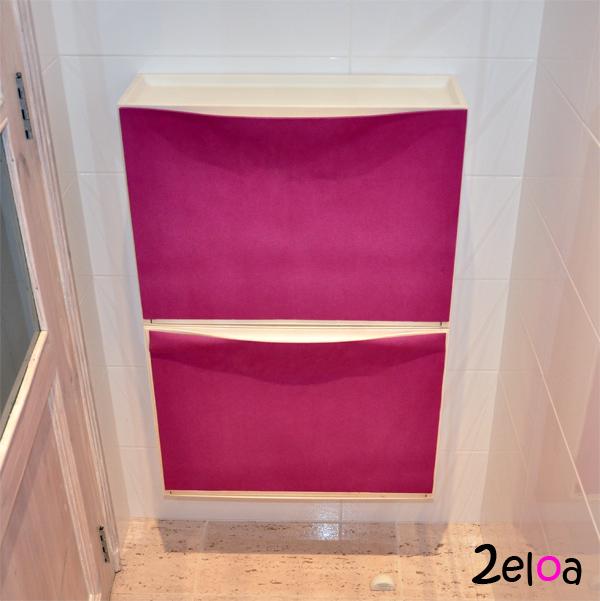 Ikea hack decorar un zapatero trones con aironfix 2eloa for Como tunear muebles de ikea