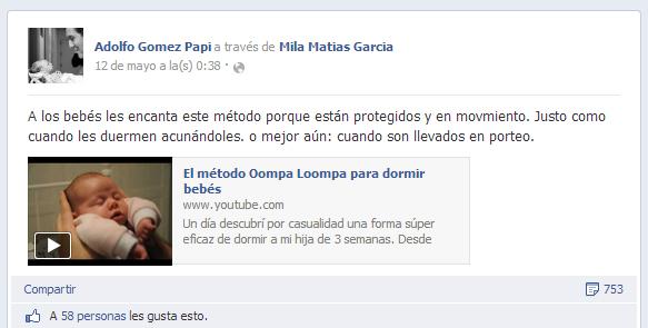 Adolfo Gómez Papí comenta el método Oompa Loompa en su facebook - www.2eloa.com