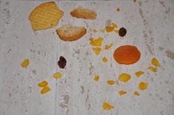 Carta a los Reyes Magos de un bebé: restos de comida.