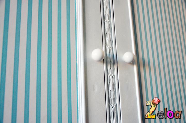 Renovando un armario antiguo 2eloa beb s crianza diy - Como empapelar un armario ...