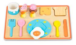 Puzzle encajable desayuno