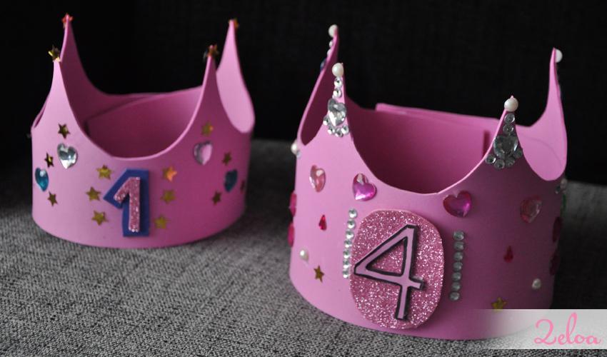 Corona de cumpleaños con goma EVA reutilizable - www.2eloa.com